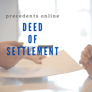 deed of settlement