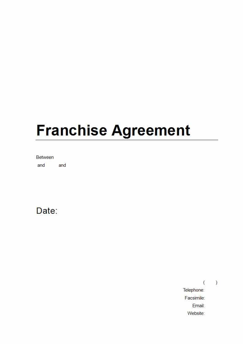 Franchise Agreement Australia Download In Word